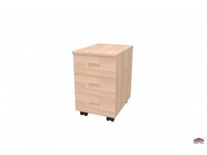Domino kontejner 3-zásuvkový buk