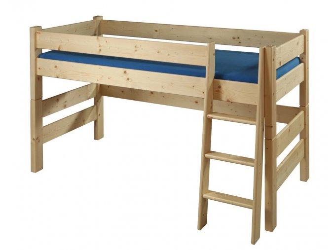 Gazel Sendy postel 90 x 200 zvýšená 120 cm přírodní  + kapsa na postel ZDARMA