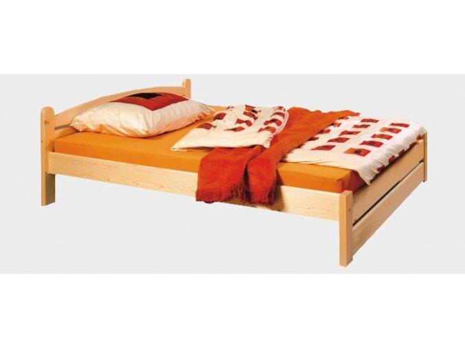 Gazel Thorsten postel 180 - nízké čelo u nohou