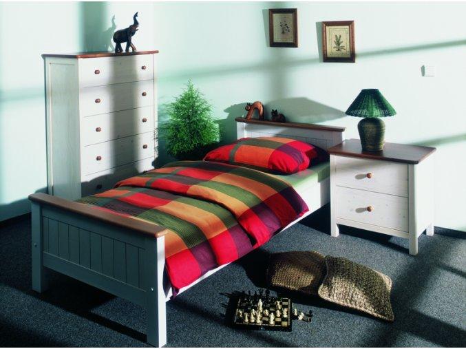 Gazel ANNY postel 90 bílo-hnědá