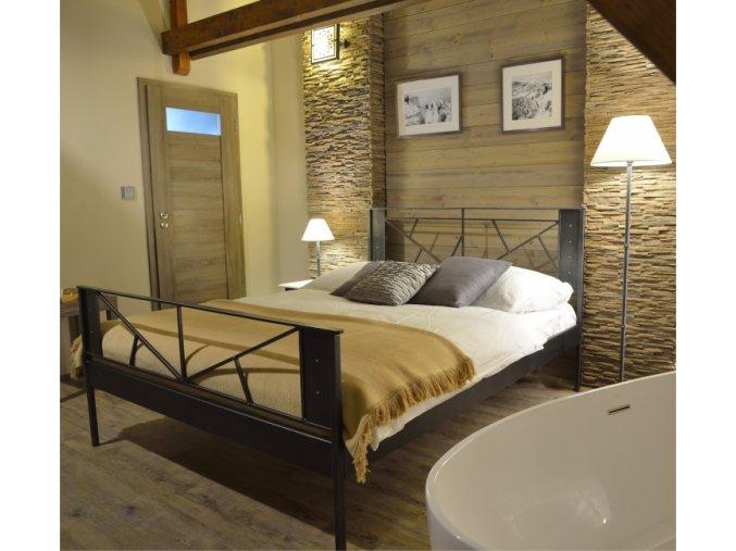 kovová loftová postel Valencia