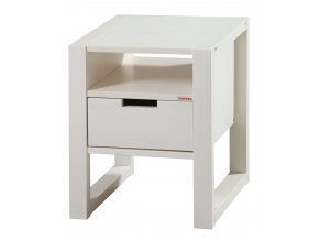 Gazel Rhino noční stolek - bílý