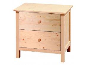 Dřevěná komoda II. malá Natur