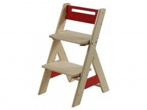 Gazel ZUZU dětská rostoucí židle - červená
