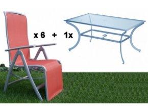 marbella zahradni set 6x kreslo relax a stul 150x90cm original[1]