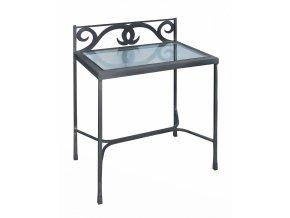 GRANADA noční stolek kov/sklo