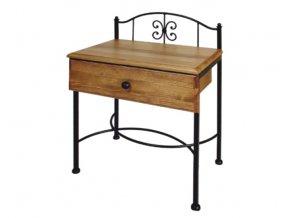 ELBA kovový noční stolek se zásuvkou