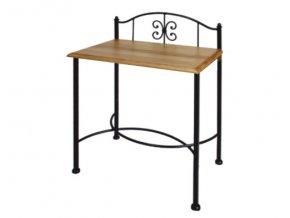 ELBA noční stolek kov, dřevo