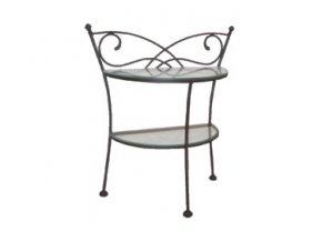 ANDALUSIA kovaný noční stolek se sklem