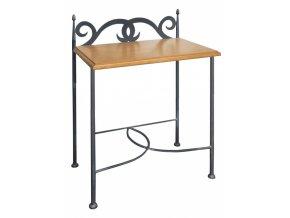 Noční stolek s deskou z masivního dřeva Cartagena