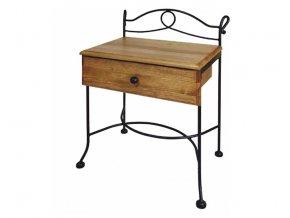 kovaný Noční stolek MODENA se zásuvkou