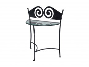 RONDA nocni stolek kov sklo