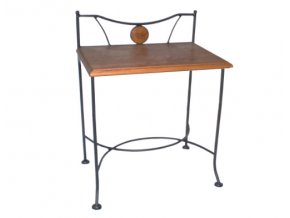 Noční stolek STROMBOLI dřevo kov