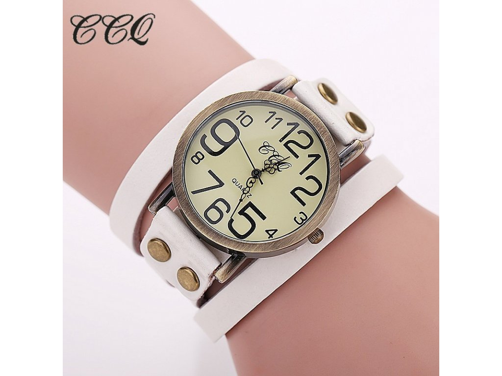 Vintage unisex hodinky kožené - 3 barvy - Načančaná.cz 24f1aa1e37