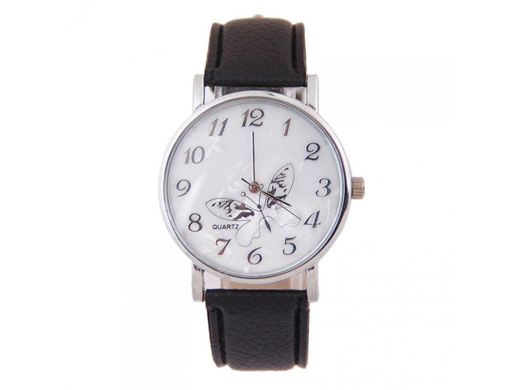Dámské kožené hodinky Motýlek - 3 barvy - Načančaná.cz ccb233e5f6