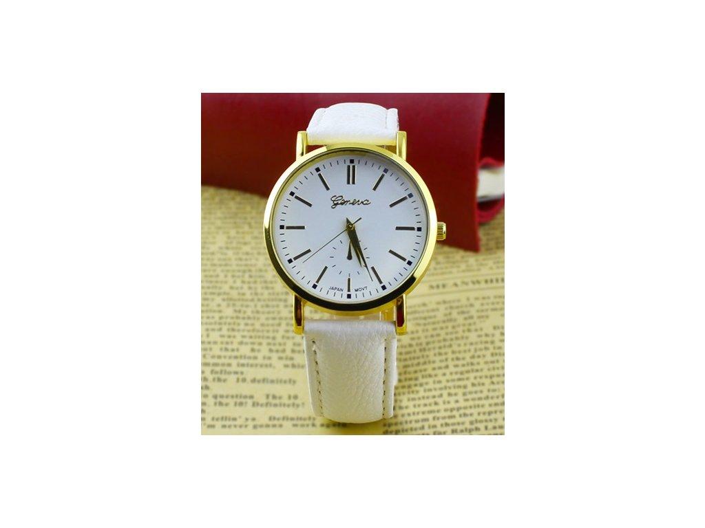 9d4d7799c1a Dámské kožené analogové hodinky Geneva - 5 barev - Načančaná.cz