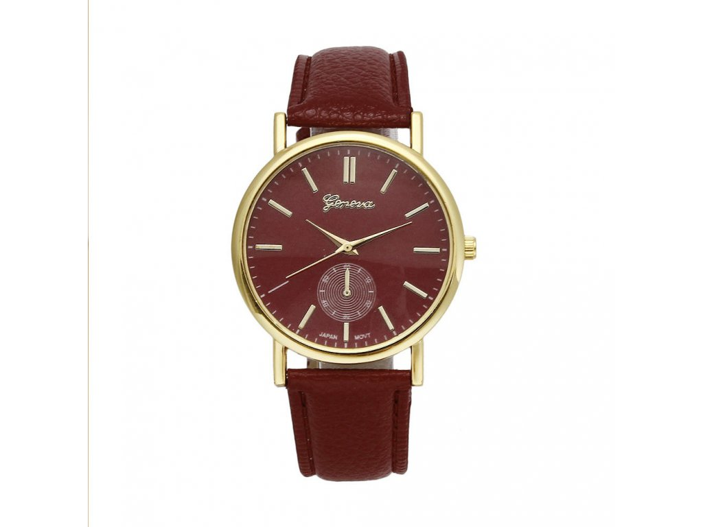 Kožené dámské analogové hodinky Geneva černé Kožené dámské analogové hodinky  Geneva hnědé ... 25fcc82ac80