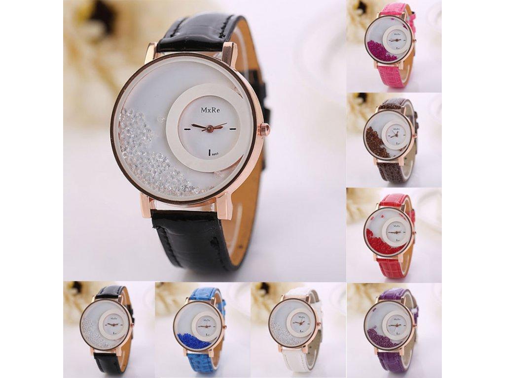 Dámské přesýpací modní hodinky- 4 barvy - Načančaná.cz 473e2f0a2b