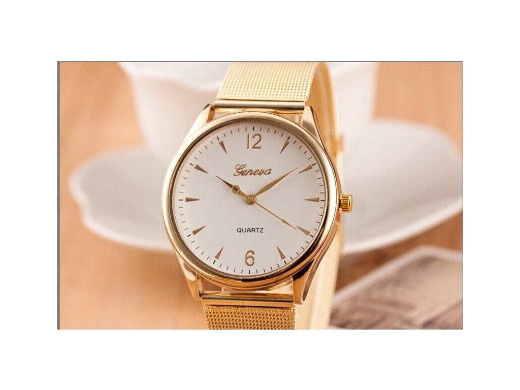 bedcc2bac Zlaté páskové hodinky Geneva Zlaté páskové hodinky Geneva