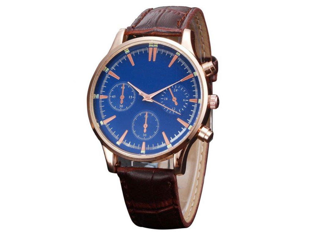 Kožené hodinky pánské černé Kožené hodinky pánské hnědé ... 5d41691ee0
