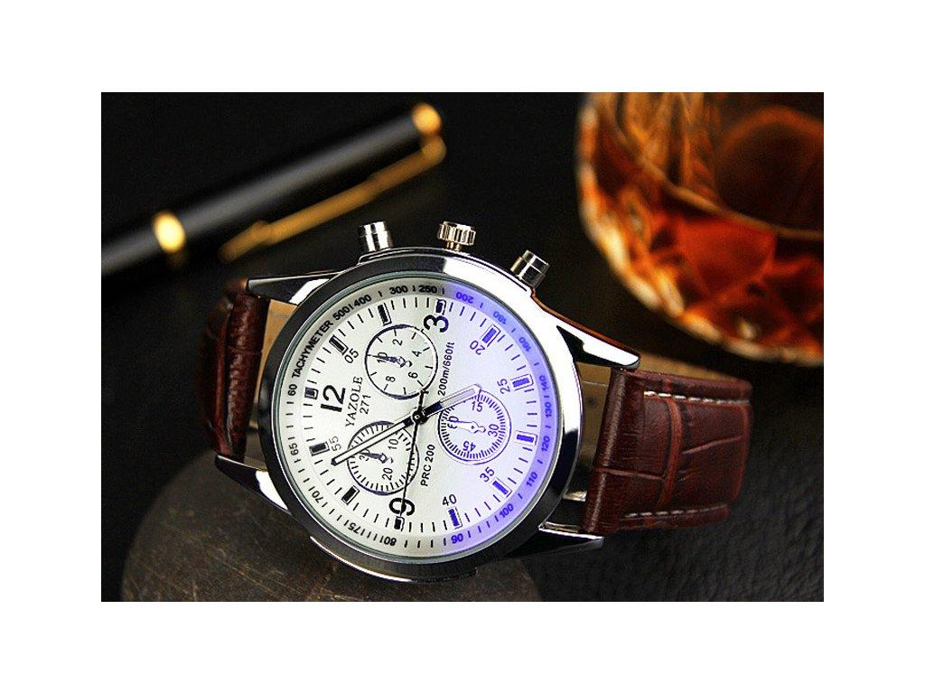 871640425 ... hodinky Pánské Kožené hodinky. Elegantní pánské hodinky v koženém  provedení v barvě modrého nebo bílého ciferníku.