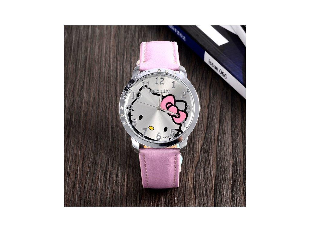 Dětské růžové hodinky Hello Kitty - Načančaná.cz f9d93e29fbb