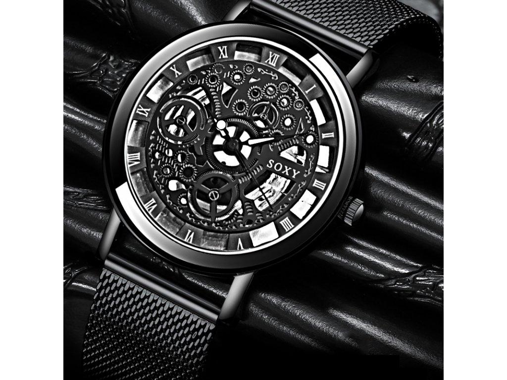 Extravagantní unisex kovové hodinky - 3 barvy - Načančaná.cz 2fd57a0b00