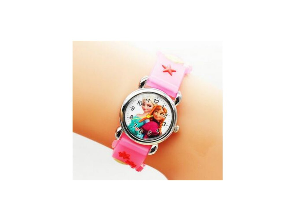 Dětské růžové hodinky Frozen - Načančaná.cz 24e15e7eff2