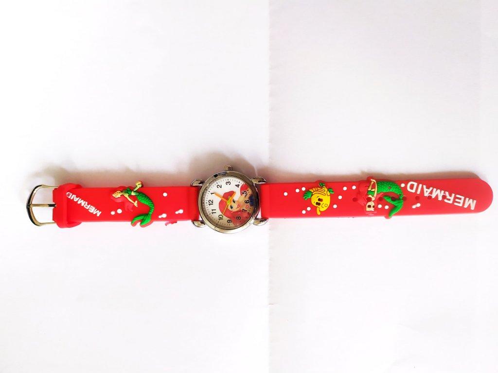 Dětské červené hodinky Mořská víla Ariel - Načančaná.cz bccc54e8a4c