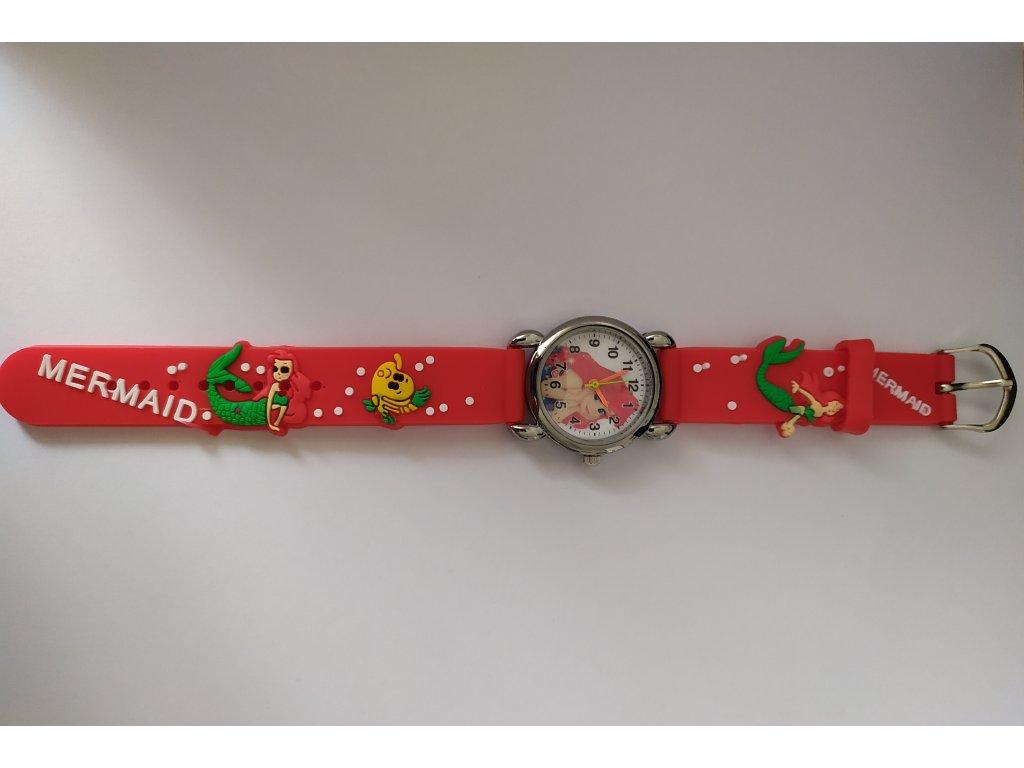 Dětské červené hodinky Mořská panna Ariel - Načančaná.cz 84ef7e2a21b
