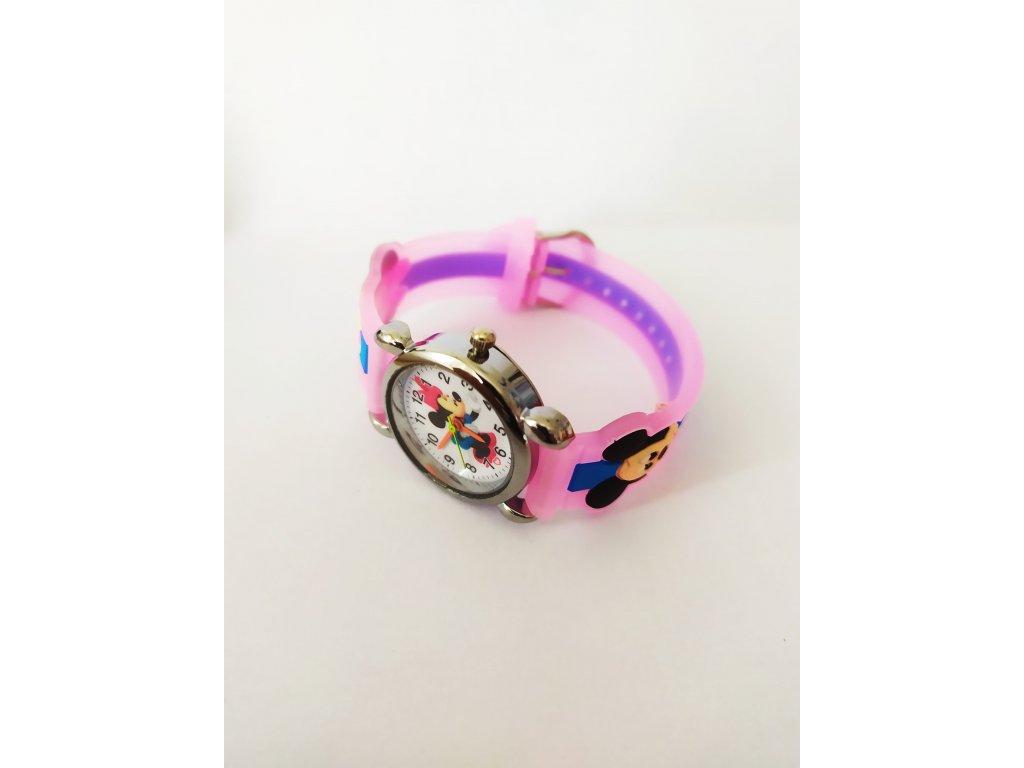 b29c5fd88 Dětské Disney růžové hodinky Minnie - Načančaná.cz