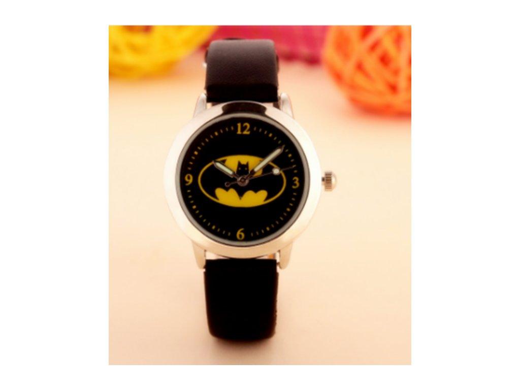 Dětské černé hodinky Znak Batman - Načančaná.cz c74fd80c41