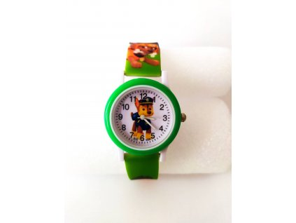 Dětské zelené hodinky Tlapková patrola