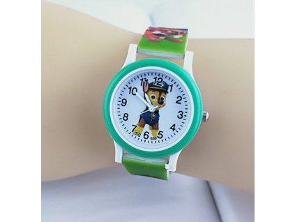Dětské zelené hodinky Tlapková patrola zelené