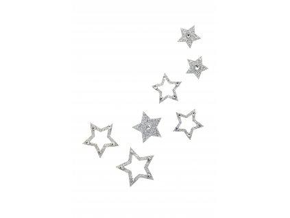 Dámské šperky na tělo stříbrný Hvězdičky crystal