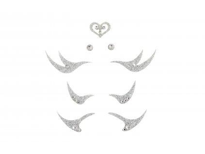 Dámské šperky na tělo stříbrné Linky crystal