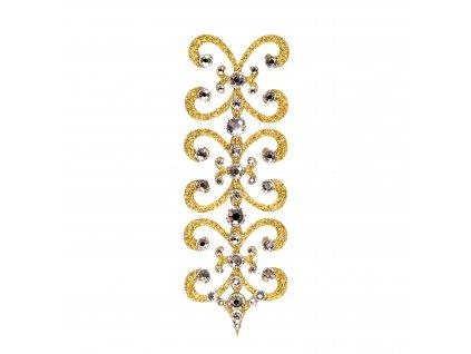 Dámské šperky na tělo zlaté Florenc crystal