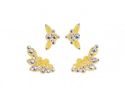 Dámské šperky na tělo zlaté Capri crystal