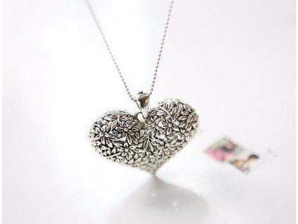 Náhrdelník Kytičkové srdce