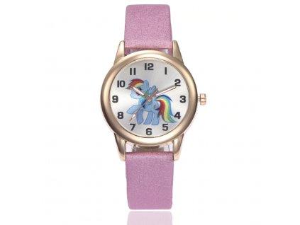 Dětské zlaté hodinky Můj malý pony růžové