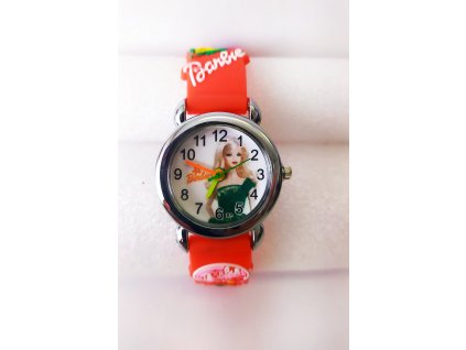 Dětské červené hodinky Barbie
