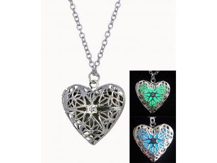 náhrdelník Svítící srdce