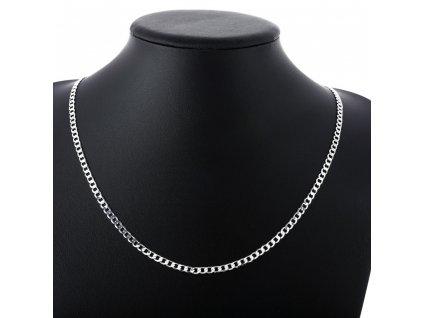 Jednoduchý stříbrný náhrdelník