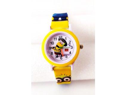 Dětské žluté hodinky Mimoň s kloboukem