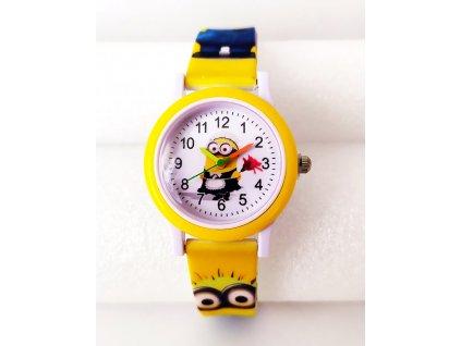 Dětské žluté hodinky Mimoň uklízečka