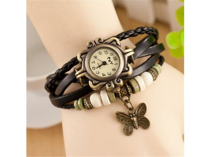Vintage hodinky motýlek 1