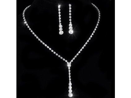 Sada Diamantové kapky náušnice náhrdelník