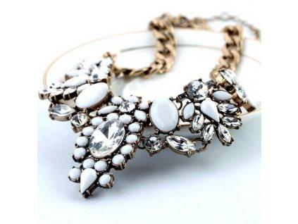 Náhrdelník Květ s diamanty