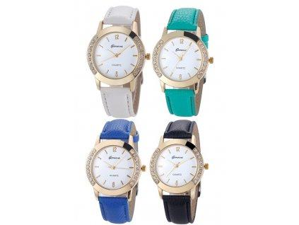 Kožené hodinky Geneva Elegance