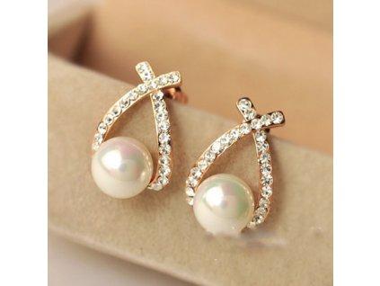 Náušnice Trendy perla